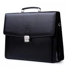 Madura black label leather briefcase
